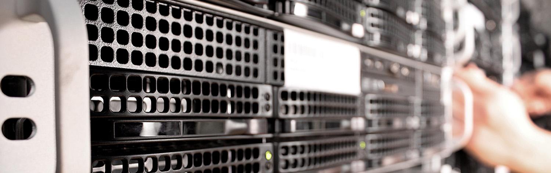 a range of computer servers